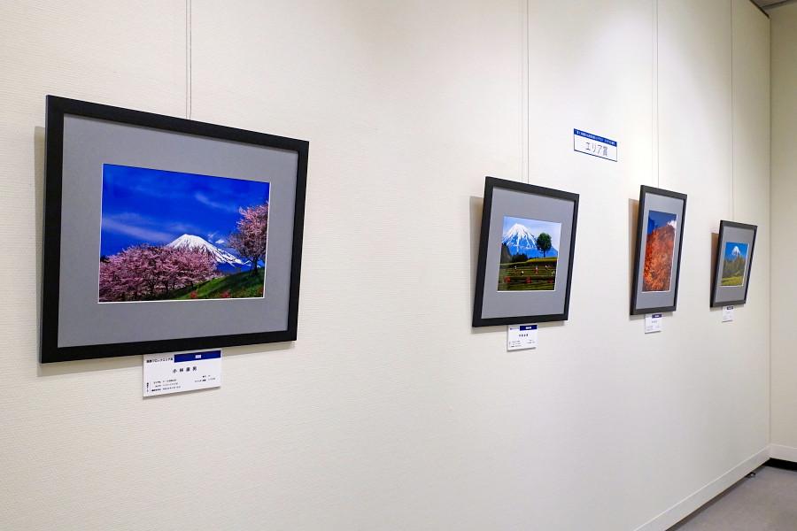 富士山百景写真展開催のロゼシアター展示室