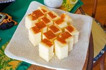 豆腐かすてらの試食