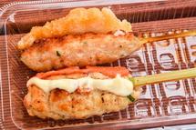 串特急富士吉原店の鶏つくね串