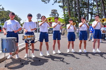 セレモニーでの地元中学生の演奏