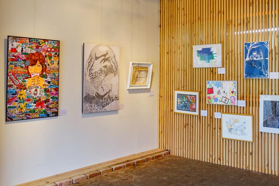 富士宮西高校美術部展示開催のARATA