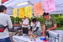 富士宮の特産品をPRするコーナー