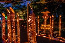 御穂神社の竹灯籠