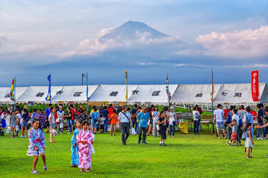 橋下護所神社祭典開催の雁公園