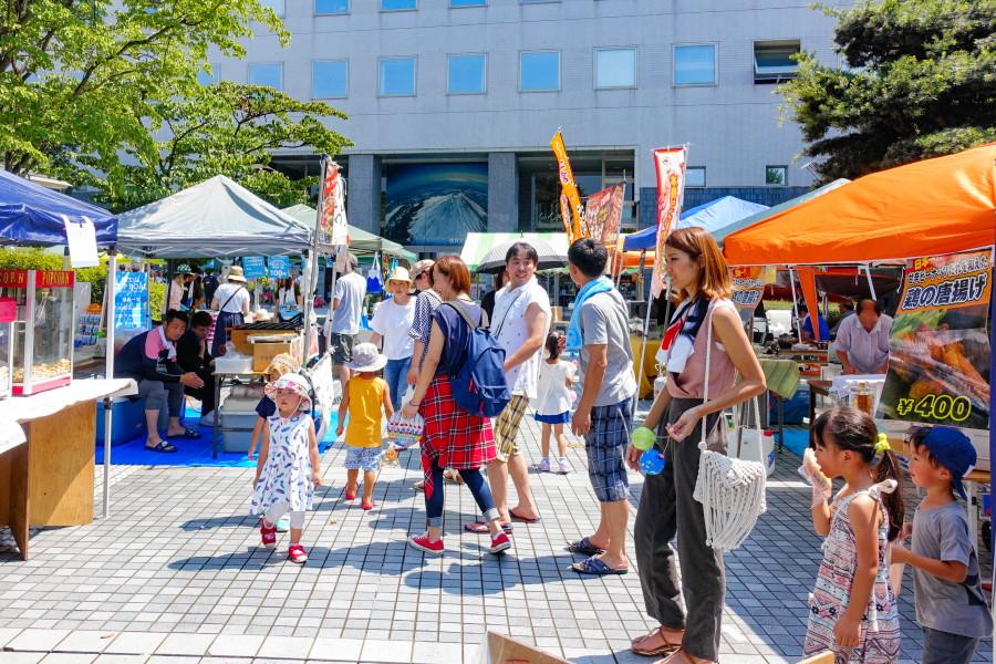 富士宮絆まつり開催の富士宮市役所