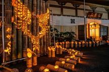 心癒される竹のほのかな灯り