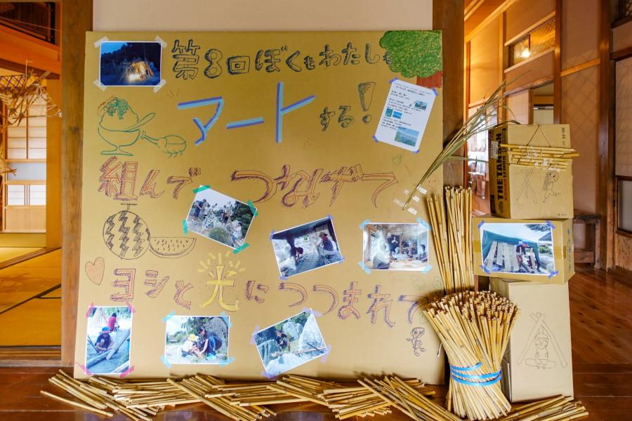 「ぼくもわたしもアートする!」展示会場の富士芸術村