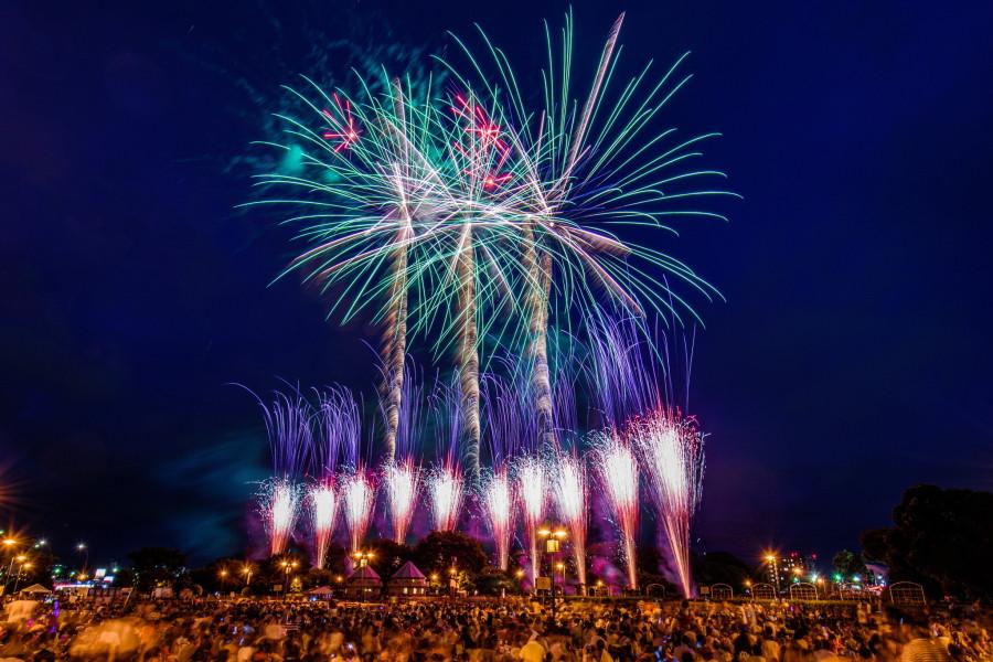富士まつりのラストを飾る花火大会