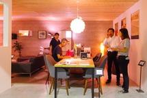 納得住宅工房の家づくりを紹介するブース