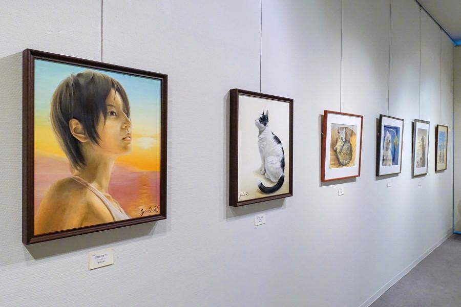 同時開催の「菅野明美・祐樹絵画展 ~親子の軌跡~」