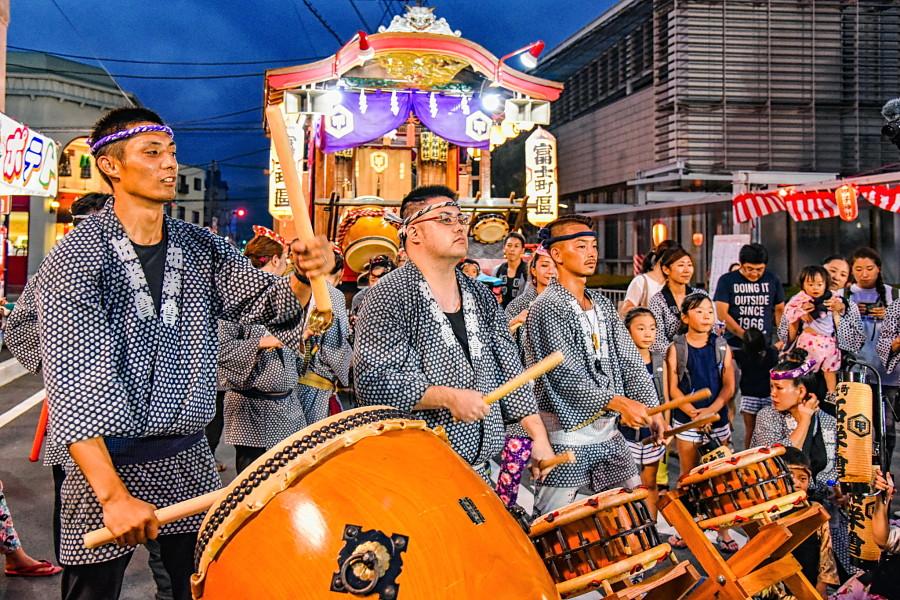 太鼓の競演(富士町区)