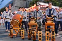 太鼓の競演(平垣三丁目)