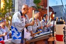 太鼓の競演(依田原町)