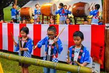 子供による太鼓演奏