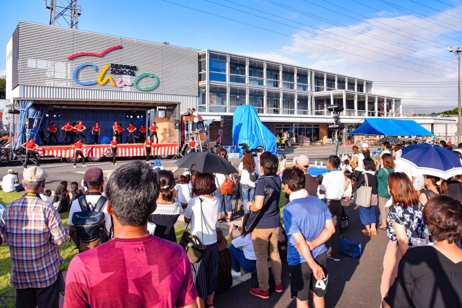 鷹岡夏まつり会場の静岡県中央自動車学校