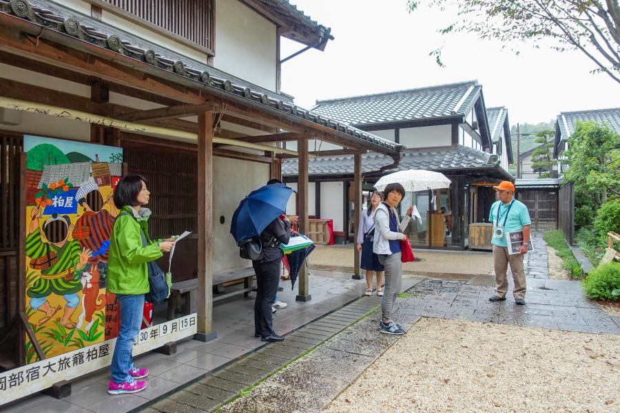 岡部宿の町歩きへ出発
