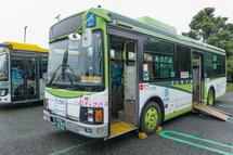 各種乗合バスの展示