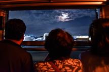 車窓から見ることができた十五夜の月