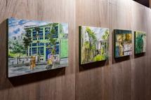 富士本町エリア(イケダビル)の展示作品