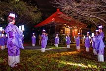 滝川観音妙善寺での舞