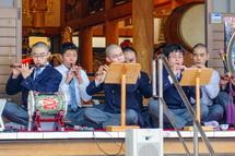 高校生による雅楽の演奏